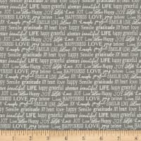 Contempo Words to Live By Tiny Words Grey