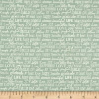 Contempo Words to Live By Tiny Words Turquoise