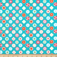 Contempo My Happy Place Squared Buttons Teal