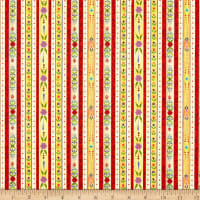 Benartex Awaken the Day Country Stripe Red/Multi