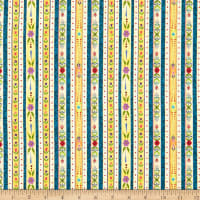 Benartex Awaken the Day Country Stripe Blue/Multi