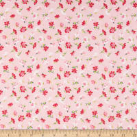 Riley Blake Novelty of the Month Flowers Pink