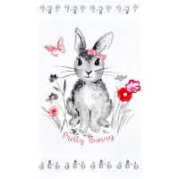 "Riley Blake Novelty of the Month Pretty Bunny 24"" Panel Offwhite"