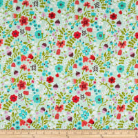Riley Blake Little Red In The Woods Floral Mint