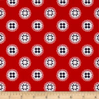 Simple Goodness Quilt Stars Red