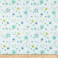 Riley Blake Sweet Baby Boy Stars Light Blue