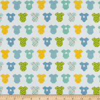 Riley Blake Sweet Baby Boy Onesies Light Blue