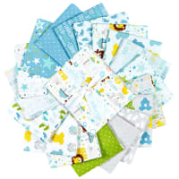 Riley Blake Sweet Baby Boy Fat Quarter Bundle, 18 Pcs