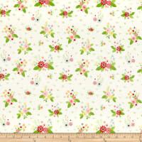 Riley Blake Vintage Keepsakes Floral White