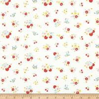 Penny Rose Bluebirds On Roses Floral Cream