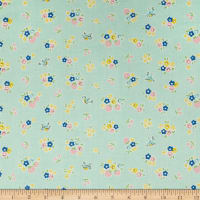 Penny Rose Bluebirds On Roses Floral Mint