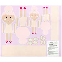 """Riley Blake Novelty of the Month  Top Knot Petunia 36"""" Panel"""