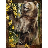 "Penny Rose Wild And Playful Bear 36"" Panel"