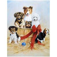 "Penny Rose Wild And Playful Puppies 36"" Panel"