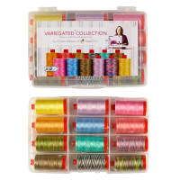 Aurifil The Variegated Collection by Christa Watson-12 spools 50 wt