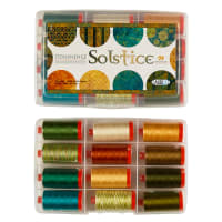 Aurifil Solstice Collection by Northcott Fabrics - 12 spools 50 wt