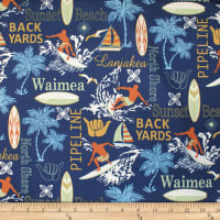 Trans-Pacific Textiles Conversational Surf Town Navy
