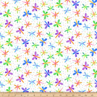 Blank Quilting Bugs Galore! Dragonflies White