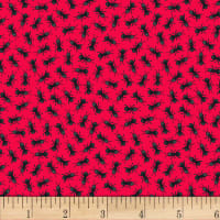Blank Quilting Bugs Galore! Ants On Red Red