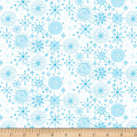 By Golly Get Jolly! Snowflakes White