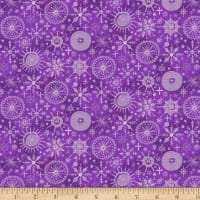 By Golly Get Jolly! Snowflakes Purple