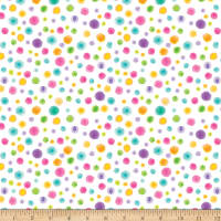 By Golly Get Jolly! Tonal Dots White