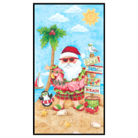 "Holiday Beach Panel 24"" Blue"