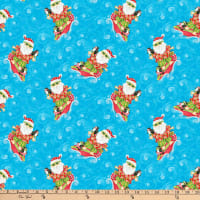 Holiday Beach Surfing Santa Blue