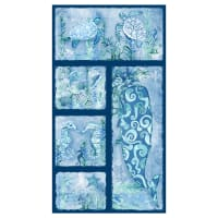 "Sea Glass Panel 24"" Blue"