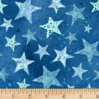 Sea Glass Stars Blue
