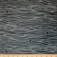 Trans-Pacific Textiles Hawaiian Fin Waves Charcoal