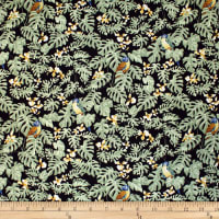 Trans-Pacific Textiles Hawaiian Mini Parrot Charcoal