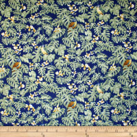 Trans-Pacific Textiles Hawaiian Mini Parrot Navy