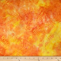 Trans-Pacific Textiles Hawaiian Batik Laua'e Fern Yellow