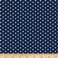 Temecula Treasures Med Dot Navy