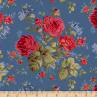 Red & Blue And Rose Too Bouquet Blue