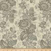 Concrete Large Cement Floral Stripe Taupe