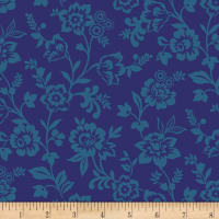 Let It Grow Trailing Floral Blue