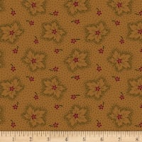 Maple Lake Flannels Rustic Leaves Orange