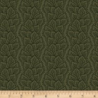 Maple Lake Flannels Leafy Path Green