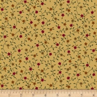 Maple Lake Flannels Lasting Blooms Tan