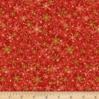 Songbook Jingles Metallic Snow Red