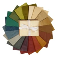 Aged Muslin Fat Quarters 18 Pcs  Neutral Colors