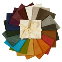 Aged Muslin Fat Quarters 18 Pcs Bright Colors