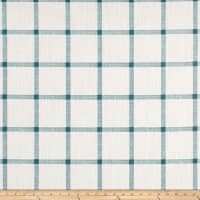 Premier Prints Modern Farmhouse Aaron Windowpane Slub Canvas Plantation Blue