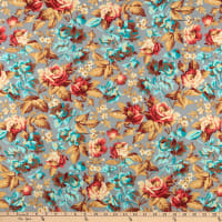 Clothworks Around the Roses Toss Taupe