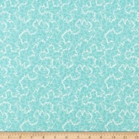 Clothworks Around the Roses Toss Light Teal