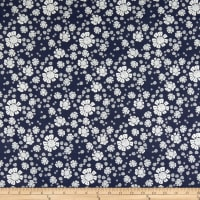 Clothworks Secret Garden Toss Light Navy