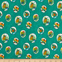 Clothworks Beetlemania Toss Dark Green