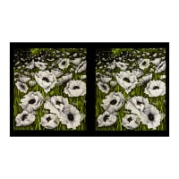 "Clothworks Poppy Poetry 24"" Panel White"
